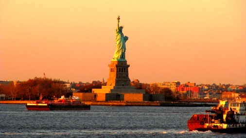 Lady Liberty bei Sonnenuntergang, New York